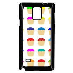 Colorful Cupcakes Pattern Samsung Galaxy Note 4 Case (black)