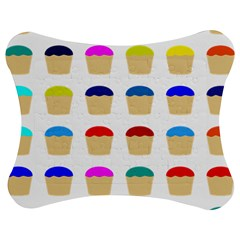 Colorful Cupcakes Pattern Jigsaw Puzzle Photo Stand (Bow)