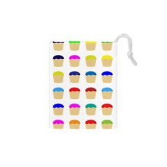 Colorful Cupcakes Pattern Drawstring Pouches (xs)