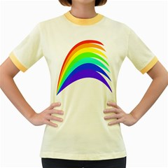 Rainbow Women s Fitted Ringer T Shirts