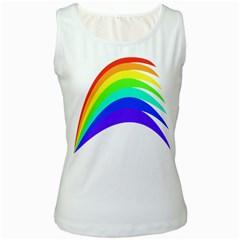 Rainbow Women s White Tank Top