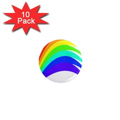 Rainbow 1  Mini Magnet (10 Pack)