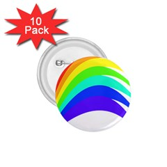 Rainbow 1 75  Buttons (10 Pack)