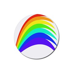 Rainbow Rubber Round Coaster (4 Pack)
