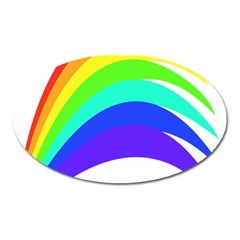 Rainbow Oval Magnet