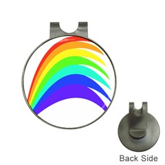 Rainbow Hat Clips With Golf Markers