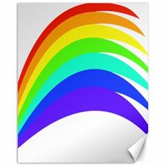 Rainbow Canvas 16  x 20