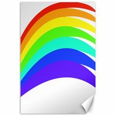 Rainbow Canvas 24  X 36