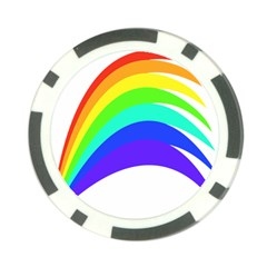 Rainbow Poker Chip Card Guard (10 pack)