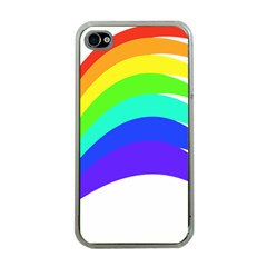 Rainbow Apple iPhone 4 Case (Clear)