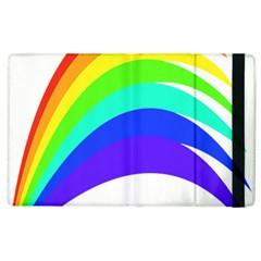 Rainbow Apple Ipad 2 Flip Case