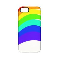 Rainbow Apple iPhone 5 Classic Hardshell Case (PC+Silicone)