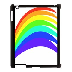 Rainbow Apple Ipad 3/4 Case (black)