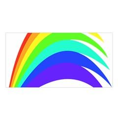 Rainbow Satin Shawl