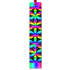 Rainbow Flower Of Life In Black Circle Large Book Marks