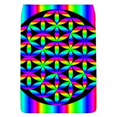 Rainbow Flower Of Life In Black Circle Flap Covers (s)