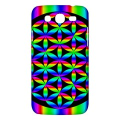Rainbow Flower Of Life In Black Circle Samsung Galaxy Mega 5 8 I9152 Hardshell Case