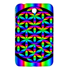 Rainbow Flower Of Life In Black Circle Samsung Galaxy Tab 3 (7 ) P3200 Hardshell Case
