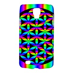 Rainbow Flower Of Life In Black Circle Galaxy S4 Active