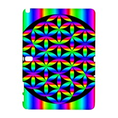 Rainbow Flower Of Life In Black Circle Galaxy Note 1