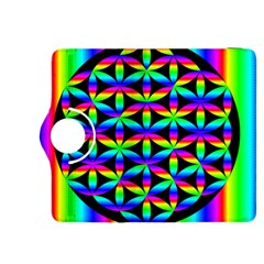 Rainbow Flower Of Life In Black Circle Kindle Fire Hdx 8 9  Flip 360 Case