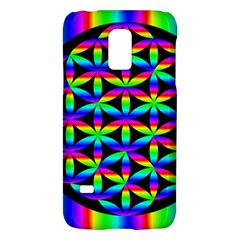Rainbow Flower Of Life In Black Circle Galaxy S5 Mini