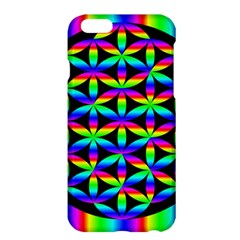 Rainbow Flower Of Life In Black Circle Apple Iphone 6 Plus/6s Plus Hardshell Case