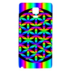 Rainbow Flower Of Life In Black Circle Galaxy Note 4 Back Case