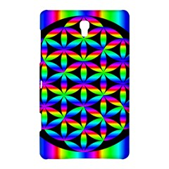 Rainbow Flower Of Life In Black Circle Samsung Galaxy Tab S (8 4 ) Hardshell Case