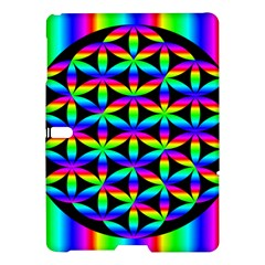 Rainbow Flower Of Life In Black Circle Samsung Galaxy Tab S (10 5 ) Hardshell Case
