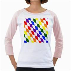 Rainbow Flag Bavaria Girly Raglans