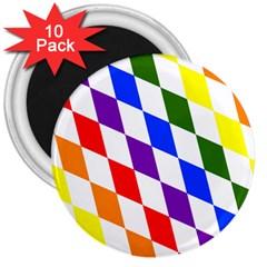Rainbow Flag Bavaria 3  Magnets (10 Pack)