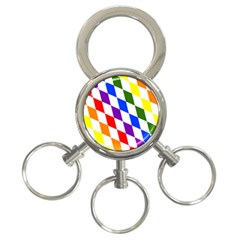 Rainbow Flag Bavaria 3-Ring Key Chains
