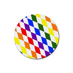 Rainbow Flag Bavaria Rubber Round Coaster (4 pack)