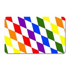 Rainbow Flag Bavaria Magnet (Rectangular)