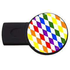 Rainbow Flag Bavaria USB Flash Drive Round (1 GB)
