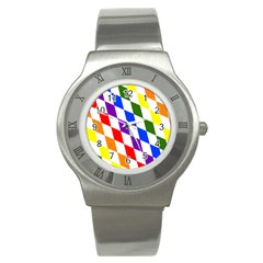 Rainbow Flag Bavaria Stainless Steel Watch