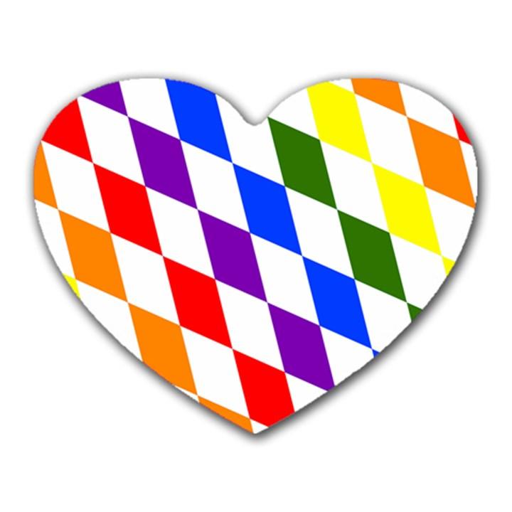 Rainbow Flag Bavaria Heart Mousepads