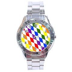 Rainbow Flag Bavaria Stainless Steel Analogue Watch