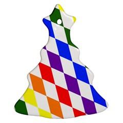 Rainbow Flag Bavaria Christmas Tree Ornament (two Sides)