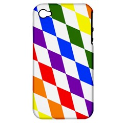 Rainbow Flag Bavaria Apple iPhone 4/4S Hardshell Case (PC+Silicone)