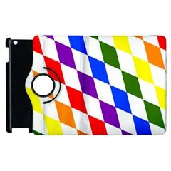 Rainbow Flag Bavaria Apple Ipad 2 Flip 360 Case