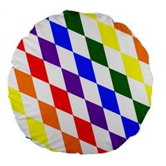 Rainbow Flag Bavaria Large 18  Premium Round Cushions