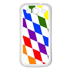 Rainbow Flag Bavaria Samsung Galaxy S3 Back Case (white)