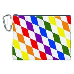 Rainbow Flag Bavaria Canvas Cosmetic Bag (xxl)