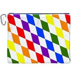 Rainbow Flag Bavaria Canvas Cosmetic Bag (XXXL)