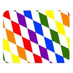 Rainbow Flag Bavaria Double Sided Flano Blanket (large)