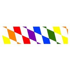 Rainbow Flag Bavaria Satin Scarf (Oblong)
