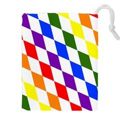 Rainbow Flag Bavaria Drawstring Pouches (XXL)