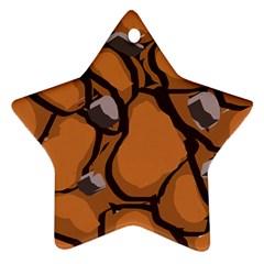 Seamless Dirt Texture Ornament (star)